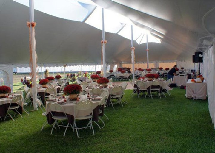 40 x 100 Translucent Peak Century Tent Interior & View Some of Our 40u0027 Translucent Peak Century Tents