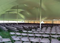 Tan Chairs for Commencement Ceremony