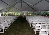 White Garden Chairs  for Ceremony