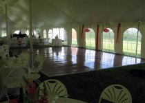 Dance Floor Placed Against Edge of Tent