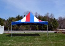20 x 20 Festival Frame Tent Red, White & Blue