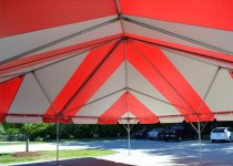 30 x 30 Frame Tent Interior Red & White