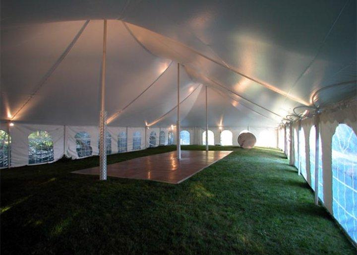 Par 38 Lighting System & View Different Tent Interiors | Lighting Fans u0026 Heater Rentals