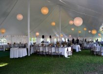 Paper Lanterns and Perimeter String  Lighting