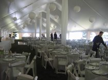 Paper Lanterns in 40 x 120 Tent
