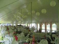 Paper Lanterns in  40 x 140 Tent