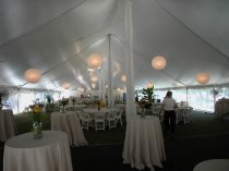 Paper Lanterns in 50 x 110 Tent