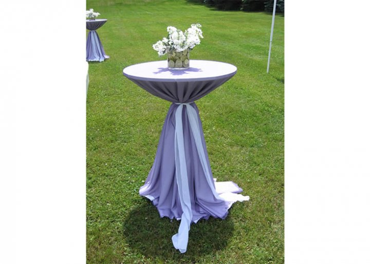 View A Selection Of Our Rental Linens Linen Rental Options - Cocktail table linens