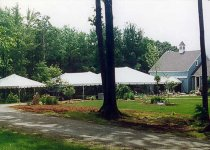 20 x 20, 20 x 40, and  30 x 40 Frame Tents for a wedding reception