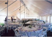 40 x 140 Party Tent  Interior