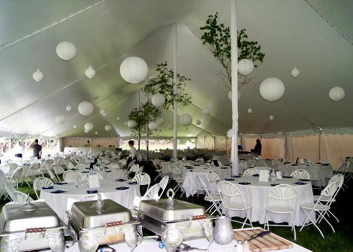View Tent Pole Cover Rental Options | Tent Pole Covers