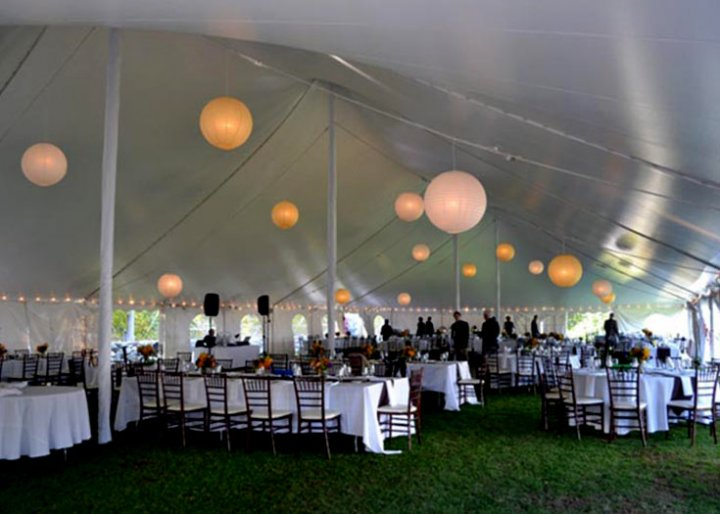 View Tent Pole Cover Rental Options Tent Pole Covers