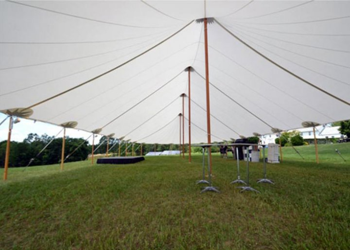 44 x 103 Tidewater Sailcloth Tent Interior & Tidewater Sailcloth Tent Rental | NH MA ME | Wedding Tent Rental