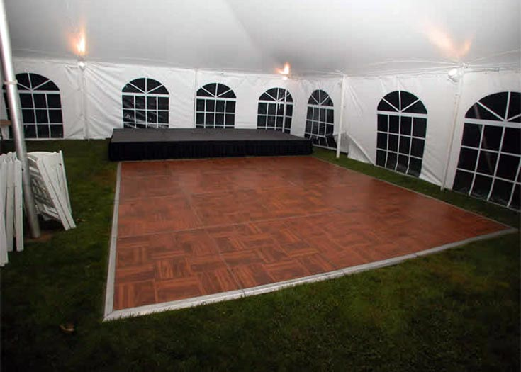 Flooring For Renters : Parquet dance floor rental standard custom sizes available