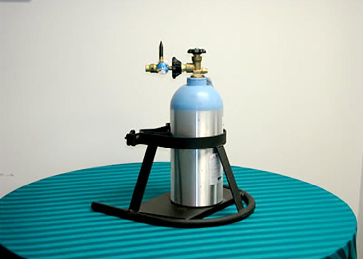 Helium Tank Rental Includes Stand And Inflator Nozzle