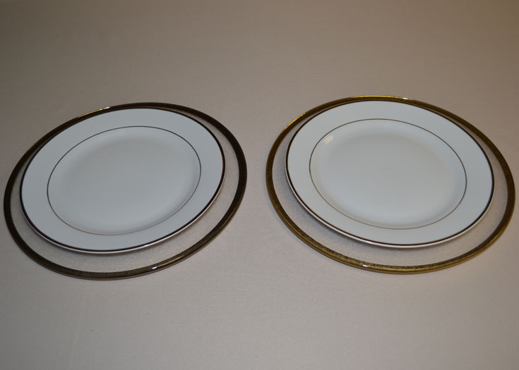 Glass Band Charger Plates