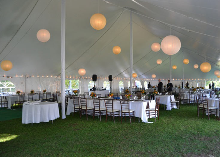 Tent Lighting Rental | Make Your Tent Glow | NH, MA, ME